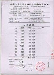 2009年北京市营养源研究所分析室检测报告 -