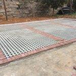 井字植草砖工程