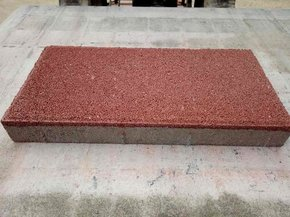 红粗面环保透水砖