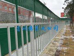 貴龍大道防撞欄桿、聲屏障施工