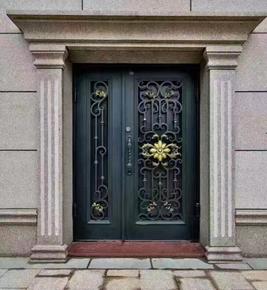 铝艺庭院入户门定制