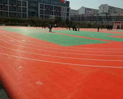 西安某学校塑胶跑道建设