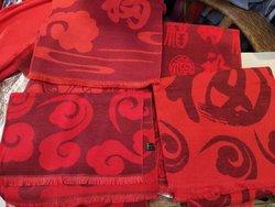 柳州新年紅圍巾